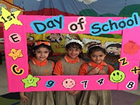 First day of school for KG2+Open House