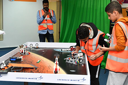 "LEGO robotics competition "" Space Vehicle Challenge "" sponsored by Lockheed Martin and Atlab"