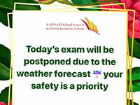 Delay in Exams due to Weather Condition