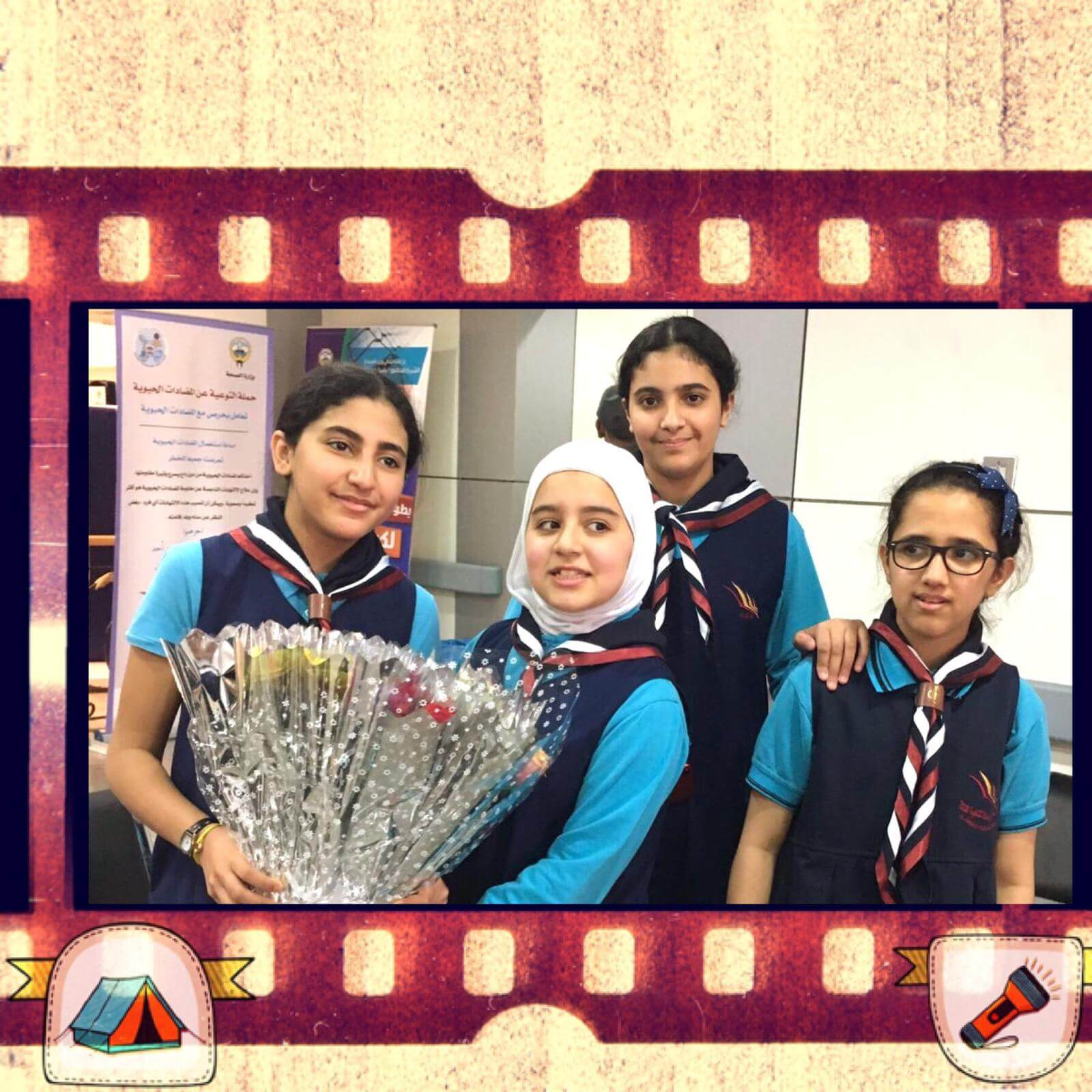 Al Resala Scout visited Cancer patients with a flower and a smile